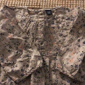 Baby gap floral blouse